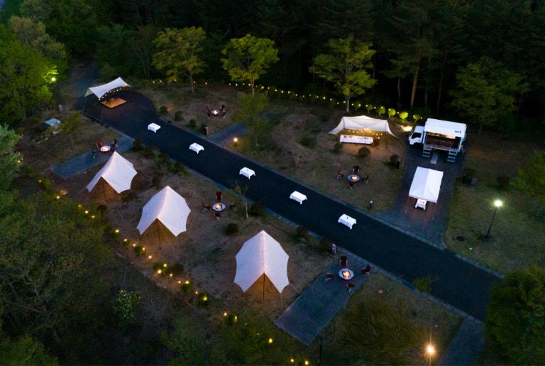 写真:キャンプサイト