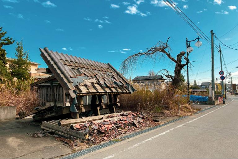 写真:被災地訪問ツアーのイメージ 駅周辺