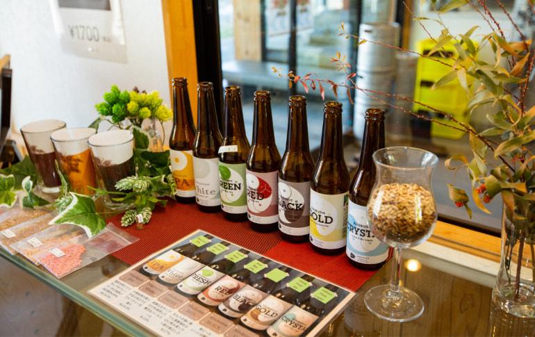 写真:都路ホップガーデンブルワリー産のクラフトビール